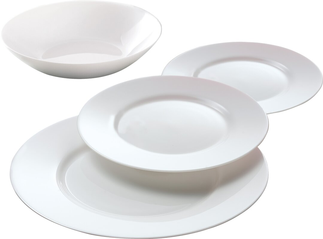 Everyday 12 Piece Dinnerware Set Service for 4  sc 1 st  Wayfair : service for 12 dinnerware - pezcame.com