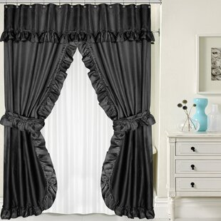 Double Swag 4 Piece Shower Curtain Set