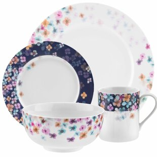 Mid Summer 16 Piece Dinnerware Set  sc 1 st  Wayfair & Porcelain Dinnerware Sets