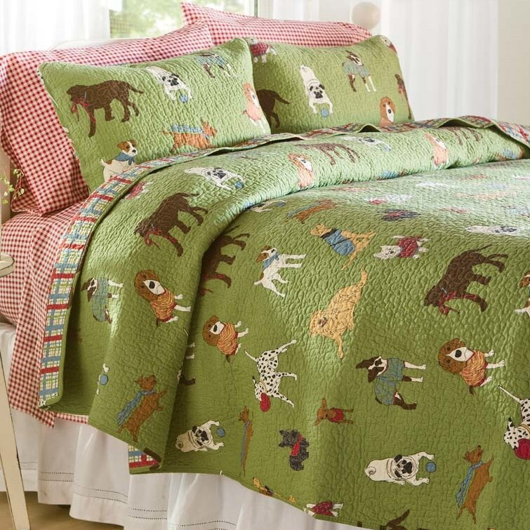 Plow And Hearth Furniture: Plow & Hearth Doggone Good Time Quilt Set & Reviews