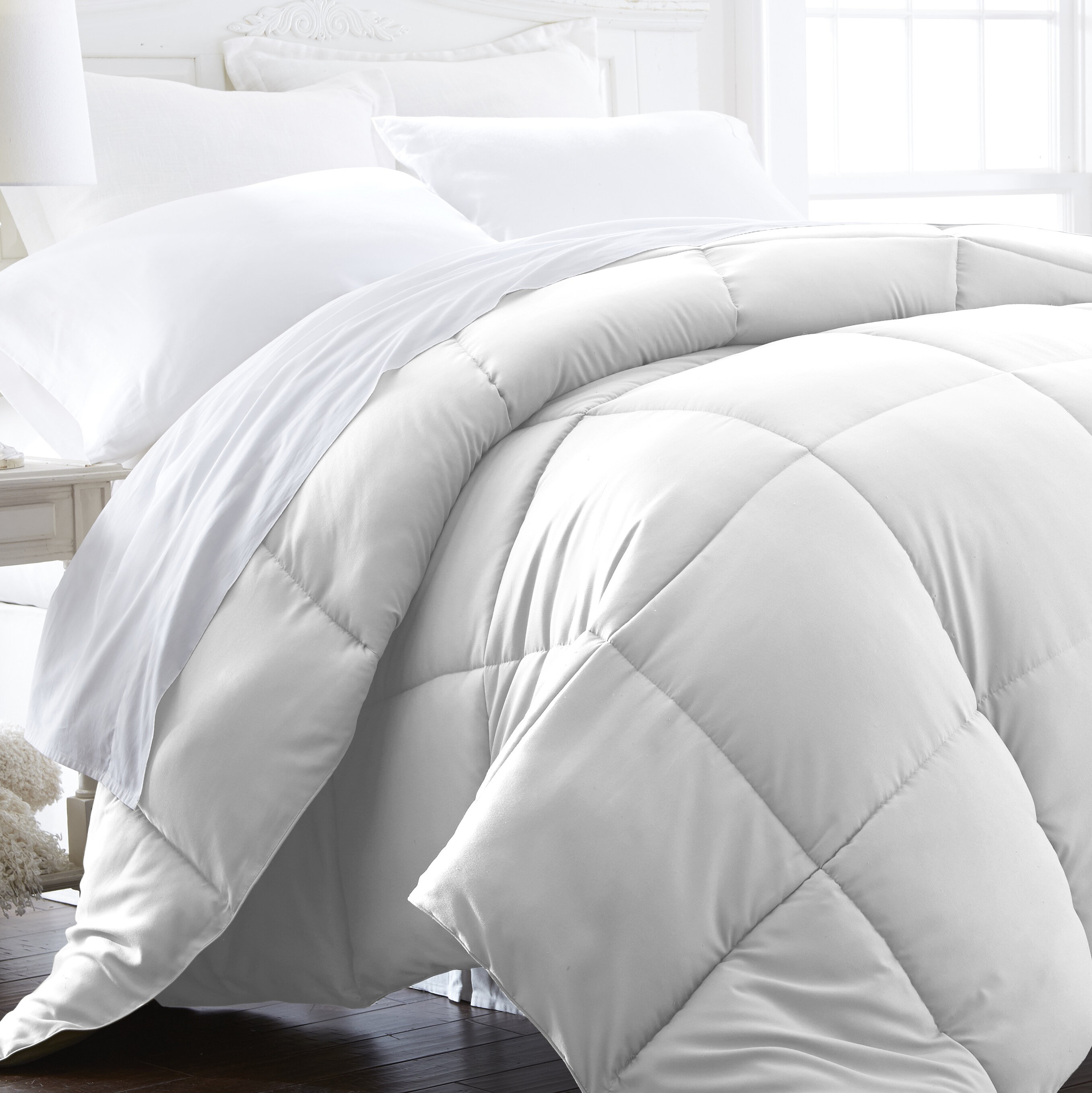 review intelligent home set down alternative classics reversible mini penny design comforter