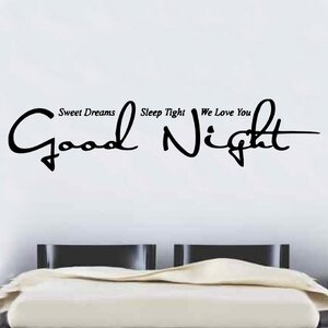 Good Night Quote Decal Vinyl Wall Sticker