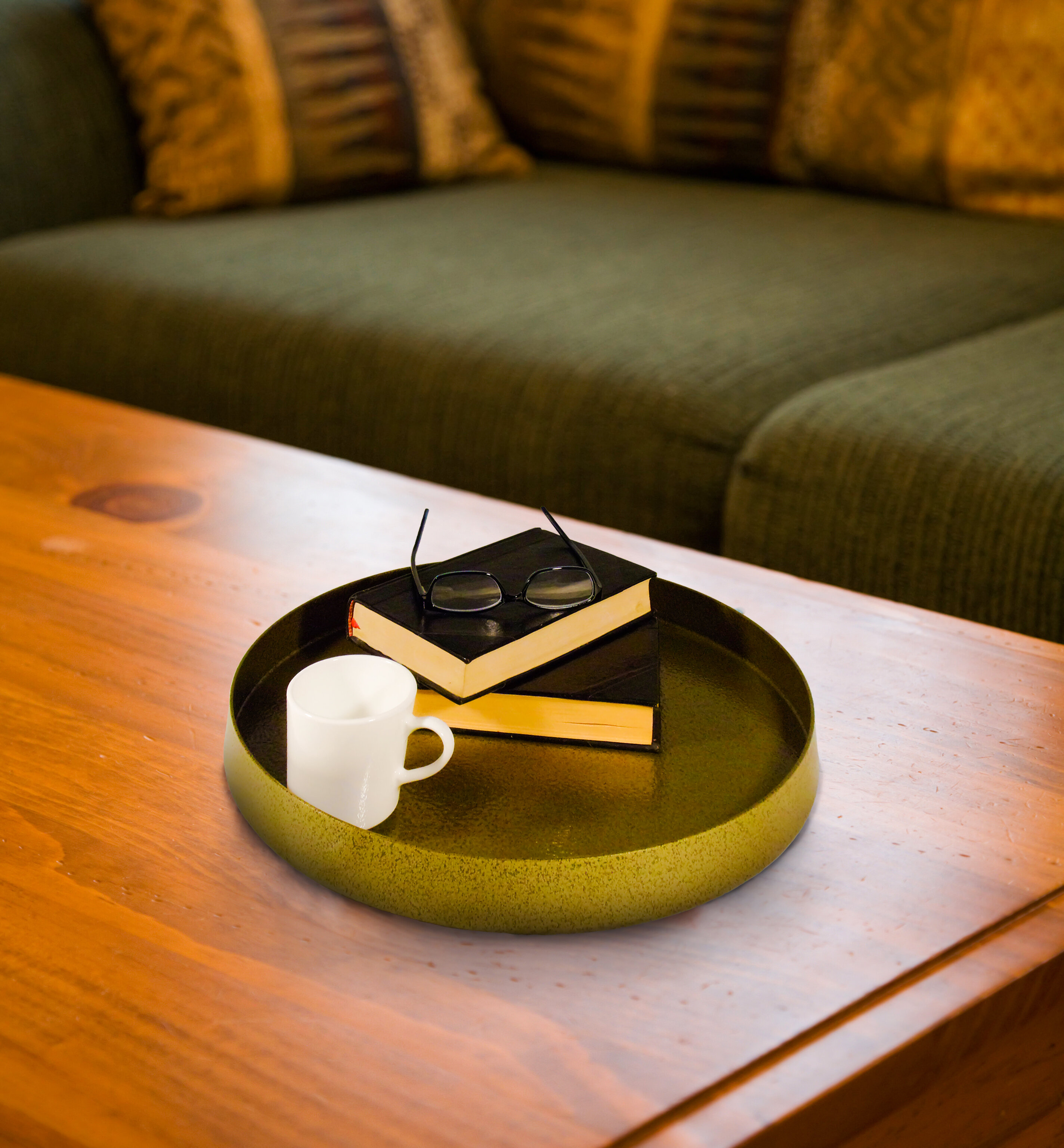 Tray Ottoman Coffee Table.Matisse Metal Round Ottoman Coffee Table Tray