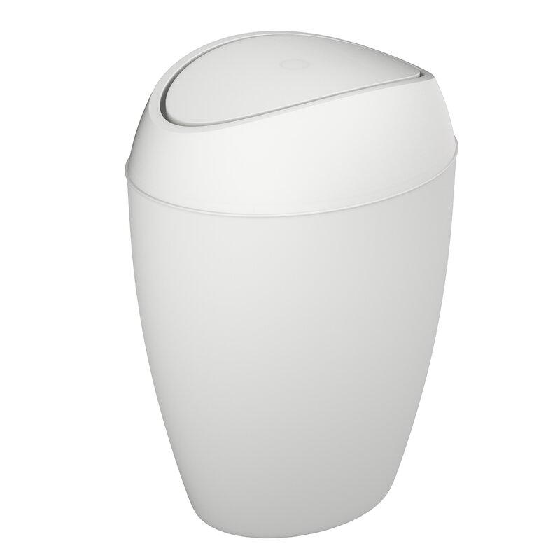 umbra twirla plastic 2 2 gallon swing top trash can reviews wayfair. Black Bedroom Furniture Sets. Home Design Ideas