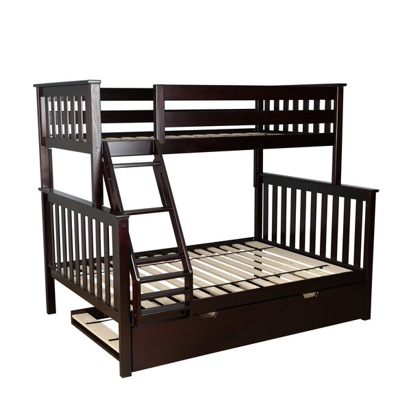 Full Bunk Bed With Trundle Part - 35: Max U0026 Lily Solid Wood Twin Over Full Bunk Bed With Trundle Bed U0026 Reviews    Wayfair
