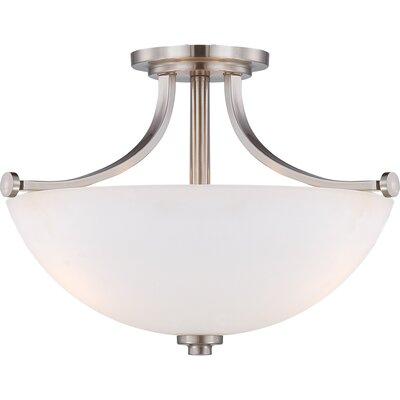 Oshaughnessy 3 light semi flush mount