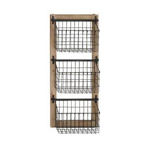34 H X 14 W 4 D 3 Tier Basket Wall Rack
