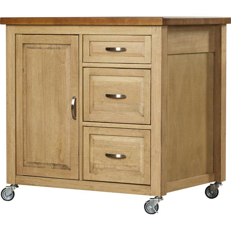 Loon Peak Lockwood Kitchen Cart Wayfair