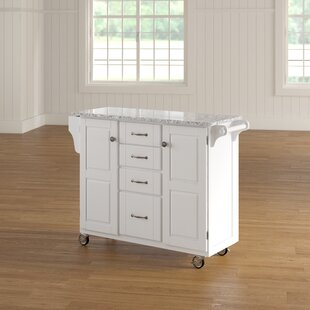Legler-a-Cart Kitchen Island with Granite Top