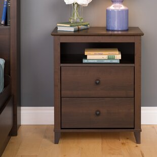 Woosley Tall Espresso 2 Drawer Nightstand