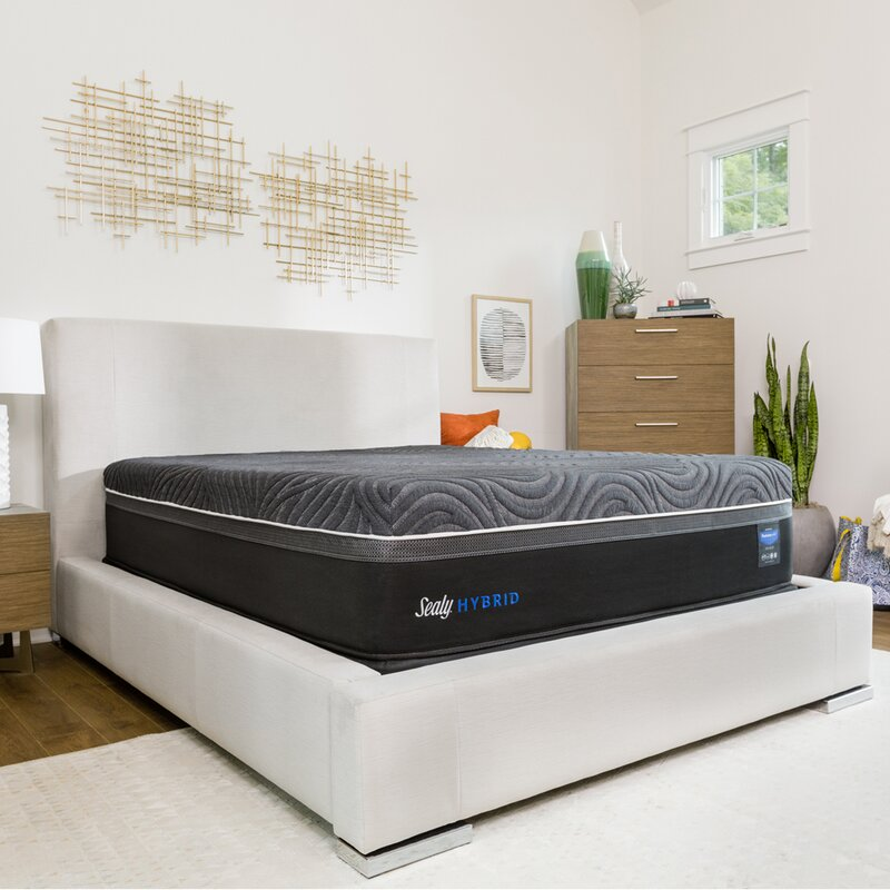 Sealy Hybrid Premium Silver Chill Cooling 14 Firm Mattress And Box Spring Wayfair