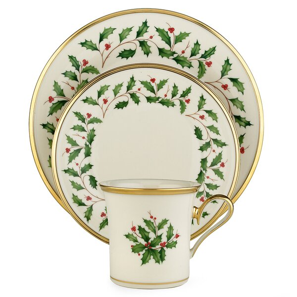 sc 1 st  Wayfair & Lenox Holiday 12 Piece Dinnerware Set Service for 4 u0026 Reviews | Wayfair