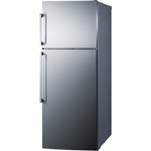 Summit Thin Line 12.6 cu. ft. Counter Depth Top Freezer Refrigerator with LED Lighting and Icemaker