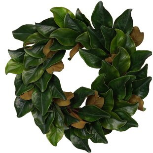 Faux Magnolia Wreath Wayfair