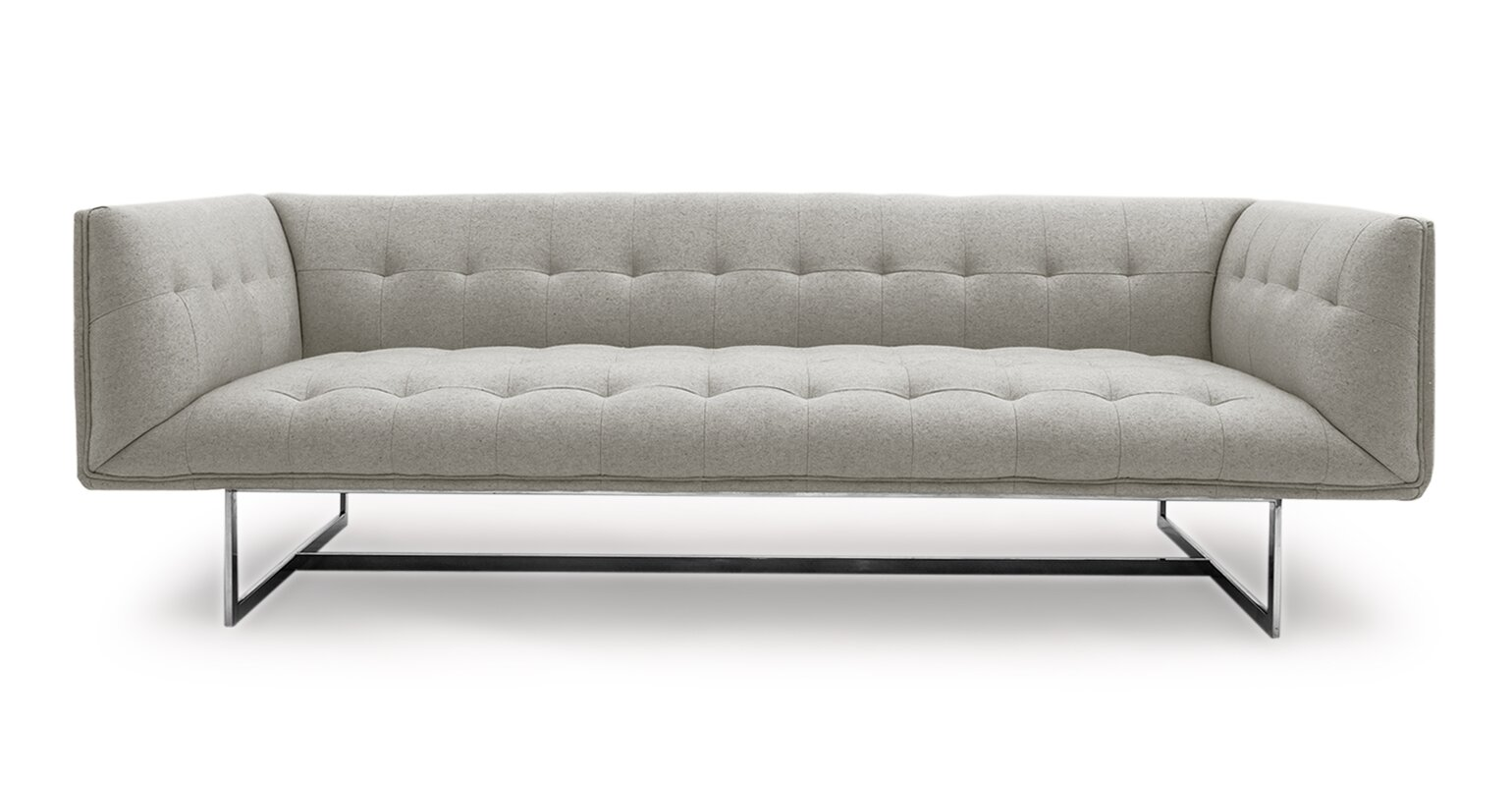 Chesterfield sofa modern  Kardiel Edward Mid Century Modern Chesterfield Sofa & Reviews ...