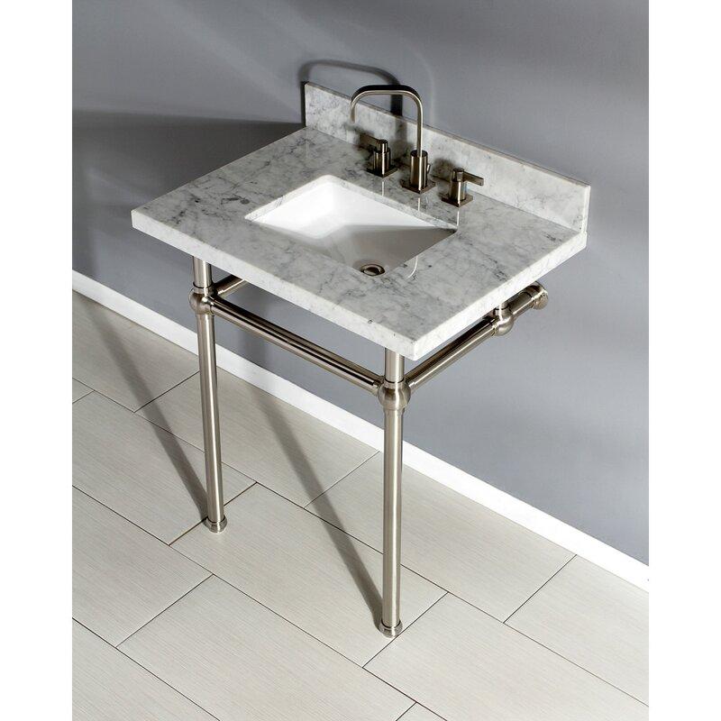 Kingston Brass Carrara Marble 30 Single Bathroom Vanity Set Wayfair