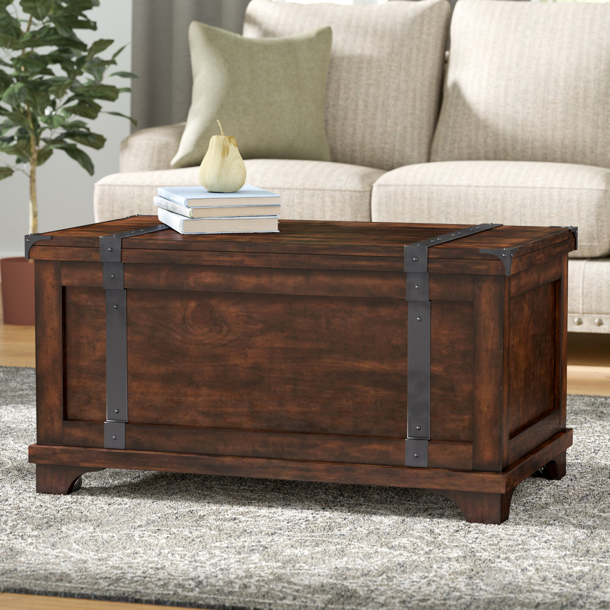 Hebbville Storage Trunk Table & Reviews