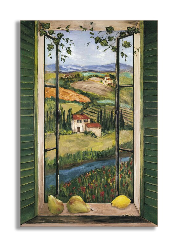 Stupell Industries Countryside Faux Window Scene Painting
