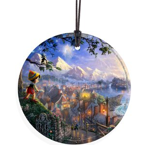 Thomas Kinkade (Pinocchio Wishes Upon A Star) StarFire Prints Wall Du00e9cor