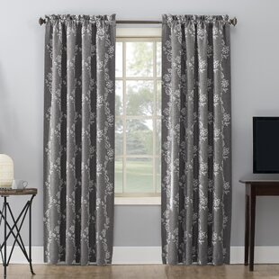 01293c95785670 Floral Gray and Silver Curtains & Drapes You'll Love | Wayfair