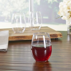 Wayfair Basics Plastic Stemless 12 oz Wine Glass (Set of 64)
