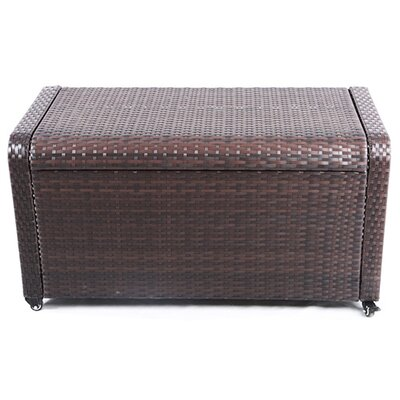 Modern Home Coconut Bay Weatherproof Outdoor Rattan Storage Box