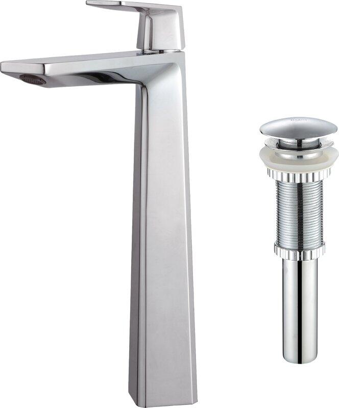 kraus single hole single handle bathroom faucet & reviews | wayfair