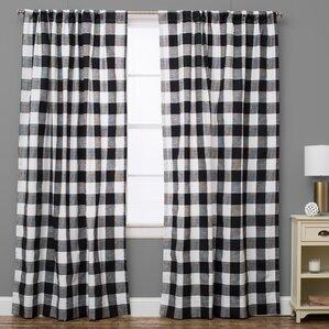 Check Amp Plaid Curtains Amp Drapes You Ll Love Wayfair