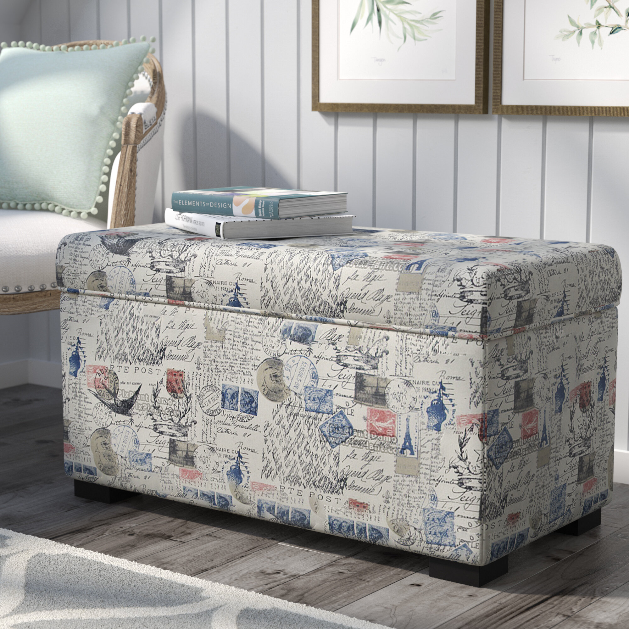 Pavot Fabric Storage Bench