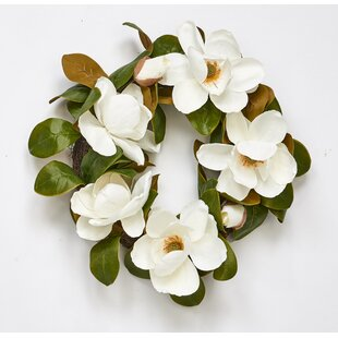 White Flower Wreath Wayfair