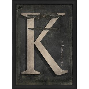 Letter K Framed Textual Art
