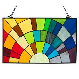 Stained Glass Rays of Sunshine Window Panel