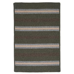 Salisbury Green Striped Area Rug