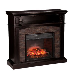 Garmon Boxwood Corner Infrared Media Electric Fireplace by Alcott Hill