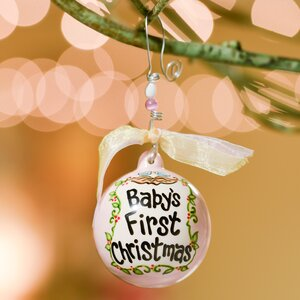Baby's First- Birds in Nest Ball Ornament