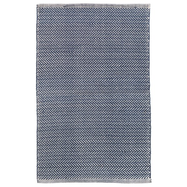 Dash And Albert Rugs Herringbone Denim Blue Ivory Area Rug Reviews Wayfair