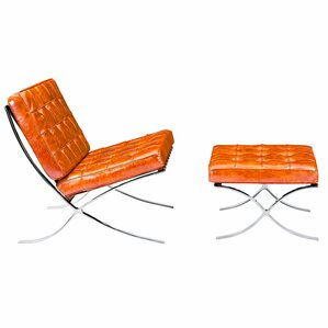Mies Lounge Chair and Ottoman by NyeKoncept