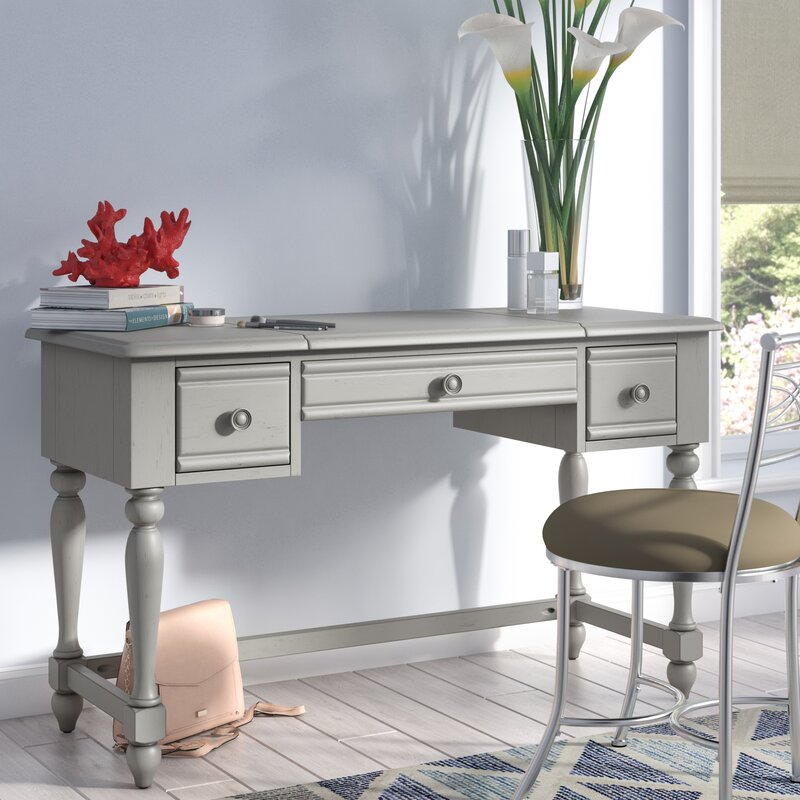 beachcrest home dickens vanity desk wayfair rh wayfair com Cheap Mirrored Desk Vanity Desk with Mirror