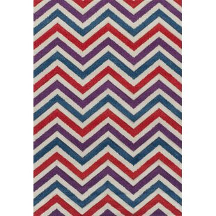 Meredith Purple/Red Rug by Metro Lane