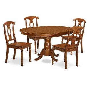 Portna 5 Piece Solid Wood Dining Set