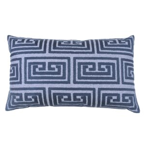 greek key oversized 100 cotton blend lumbar pillow