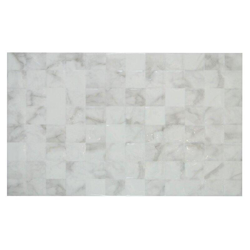 Mulia Tile 10 x 16 Wall Tile in Glossy Carrara White Reviews