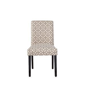 Martha Dining Chair in Gray Geometric by Zipcode Design