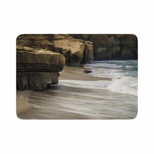 Nick Nareshni La Jolla Cliffside Sandstone Photography Memory Foam Bath Rug