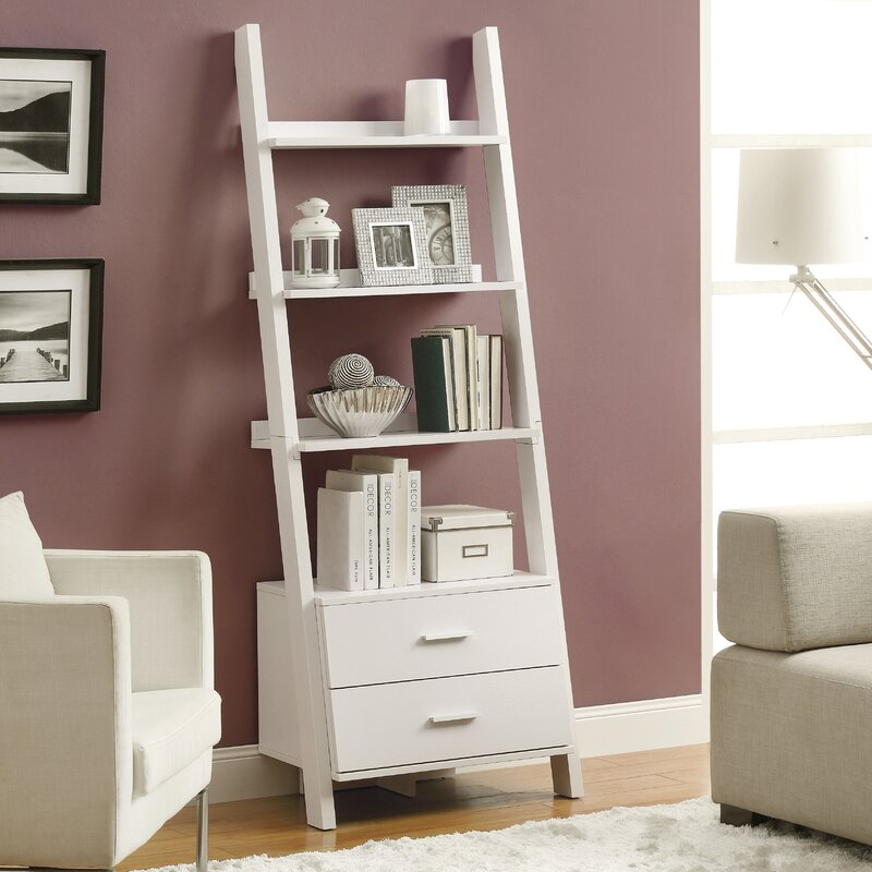 ladder bookcase antique drawers with white shelf drawer