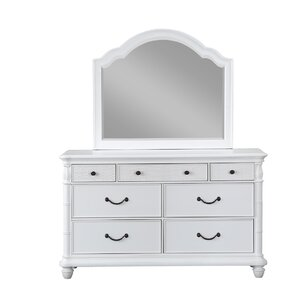 Isle Of Palms 7 Double Dresser with Mirror by Panama Jack Home