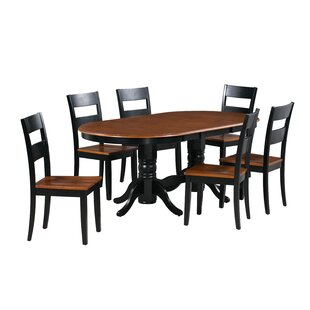 Dahlberg 7 Piece Extendable Solid Wood Dining Set Best Design