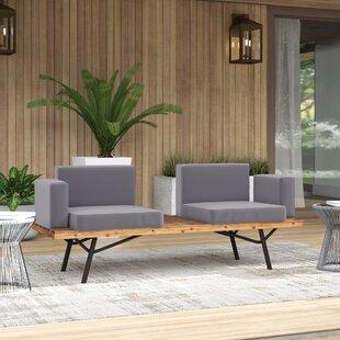 Outdoor Teak Sofa   Wayfair