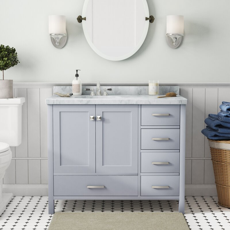 Andover Mills Utley Modern 43 Quot Rectangular Single Bathroom