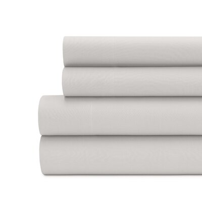 Briarwood Home 100% Cotton Solid Percale Sheet Set Size: California King, Color: Silver Gray